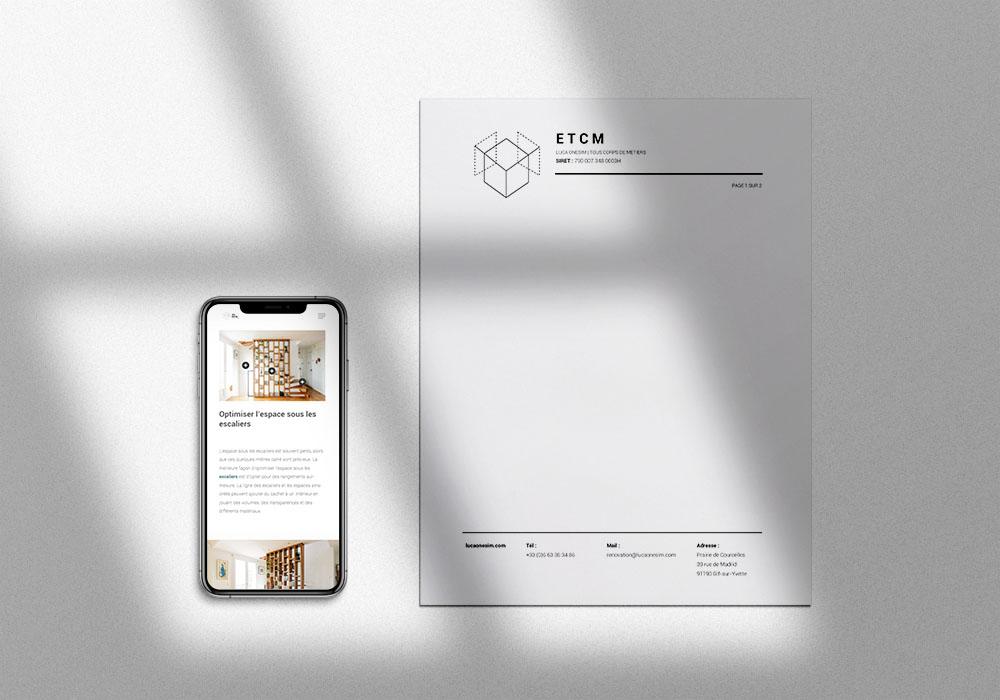 papier en tete design minimaliste